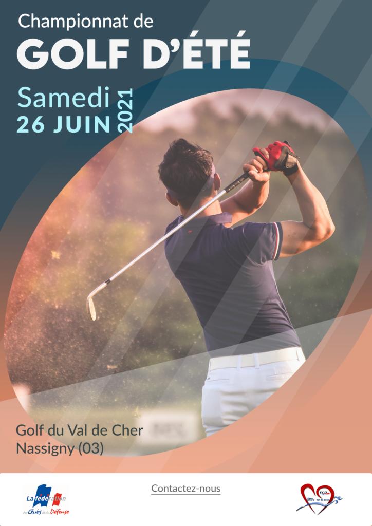 affiche golf d'été 26 juin 2021