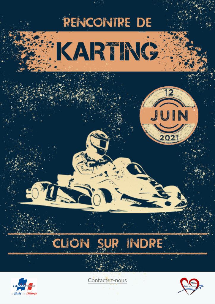 affiche rencontre karting Clion 12 juin 2021
