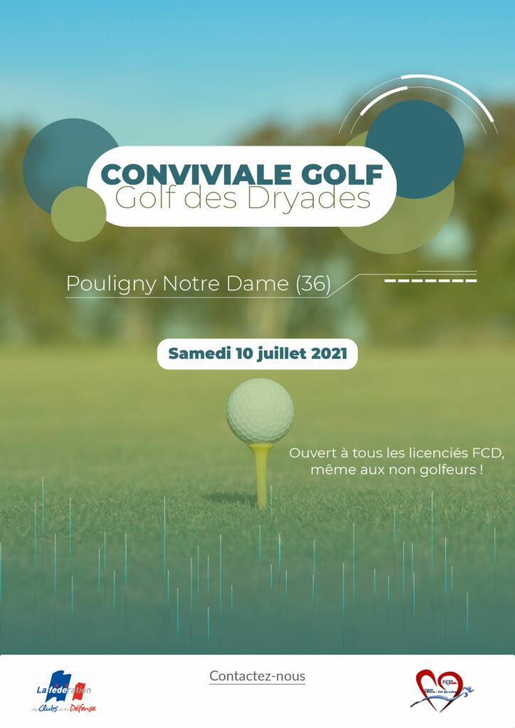 affiche conviviale golf